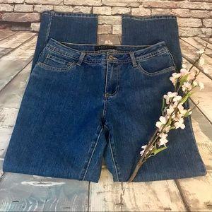 Baccini Straight Cut Gold Stitch Studded Pockets